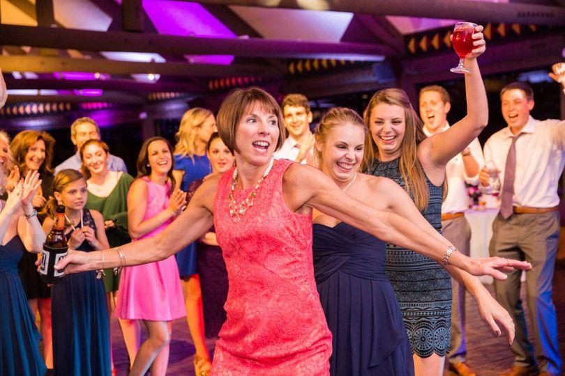 Ladies having fun at the dance floor