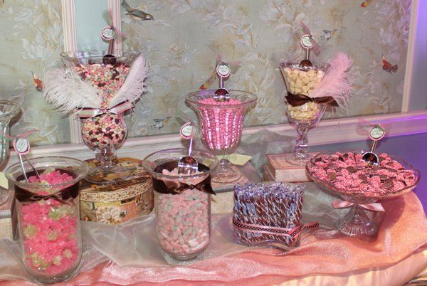Candy choices included Gummy Sour Patch Watermelons, Pink M&Ms, Pink Non-Pareils, and Chocolate...