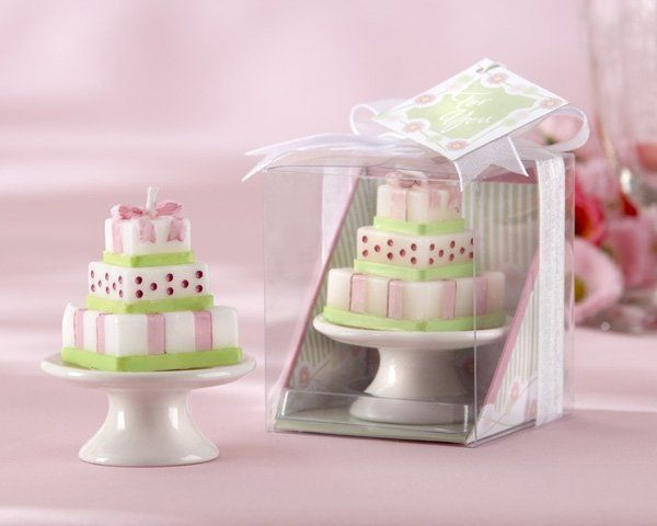 """Buttercream Dreams"" Cake Candle on Porcelain Pedestal Cake Plate (Set of Four). Reminiscent of..."