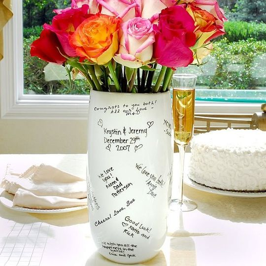 Popular for all special occasions, our Signature Vase will hold your favorite memories for years....