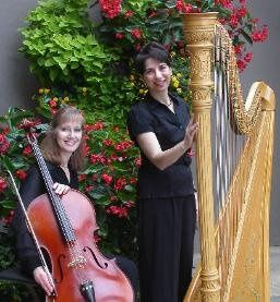 Harp and cello:  Donna Germano and Kristine Yates for Asheville weddings