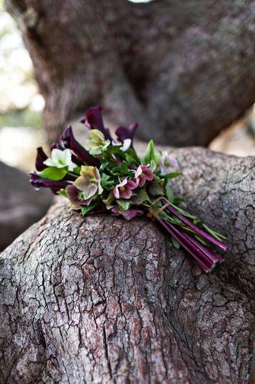 Small purple bouquet