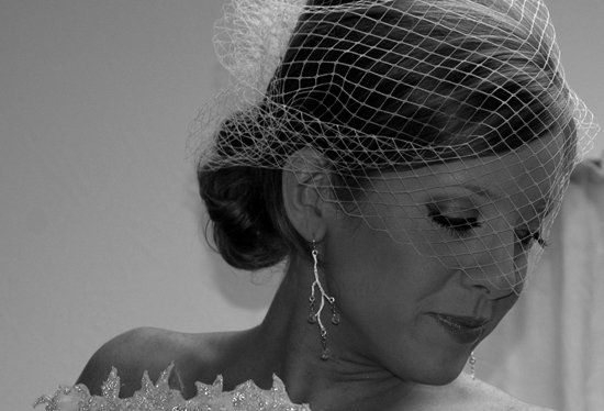 A classic beauty, this was shot moments before she walked down the aisle.
