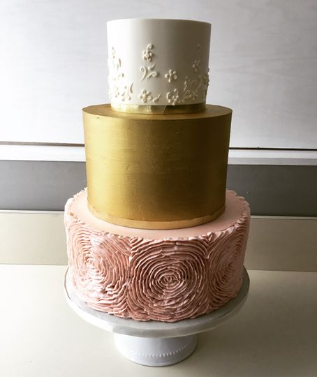 Ivory, gold and blush