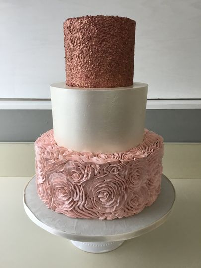 Rose gold, pearl and ruffles