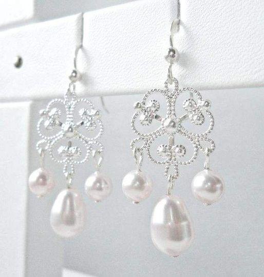 Shamrock Earrings, in classic White