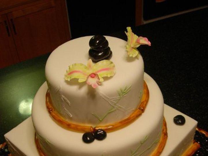 Tmx 1237472976874 BambooCake003 Narvon wedding cake