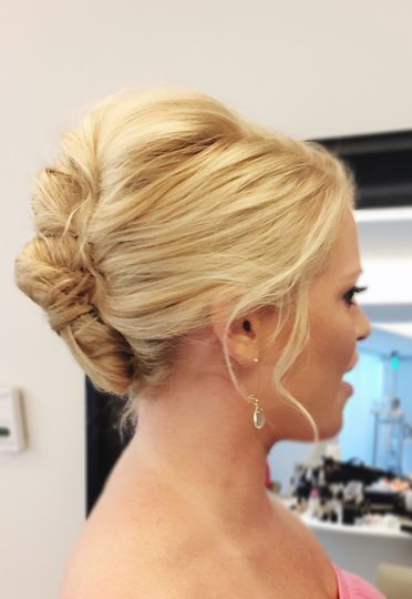 bridal updo hairstyling colleen stone makeup
