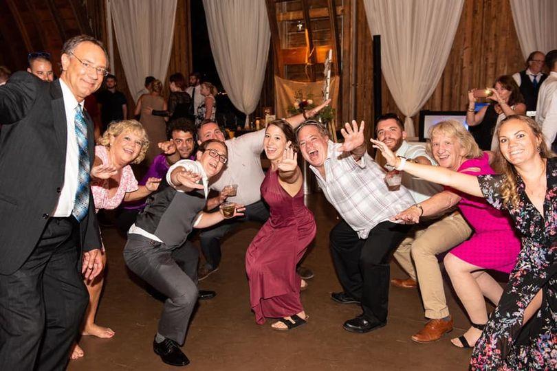 Barn Wedding Dance Party