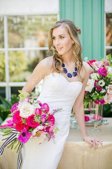 Bride's final look