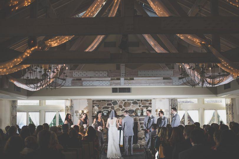 Indoor wedding cderemony