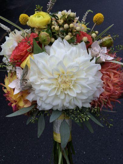 Statement white flower