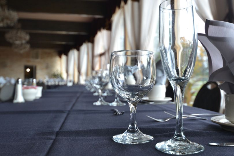 Head table in Crystal Room