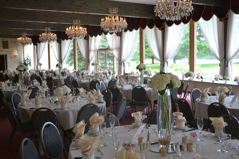 Crystal Room wedding decorations