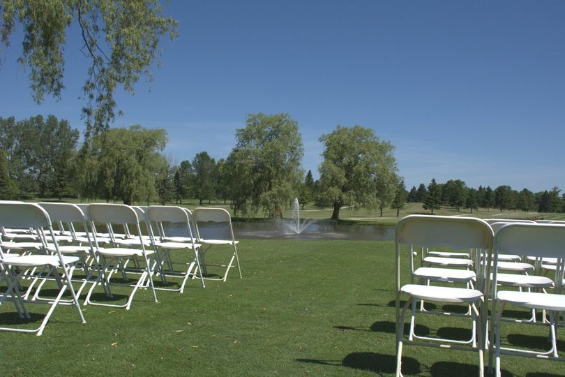 Outdoor wedding ceremony location on Blue #1