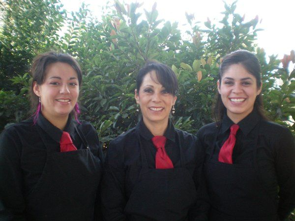 From left our staff members: Eloisa, Rosie and Rosa