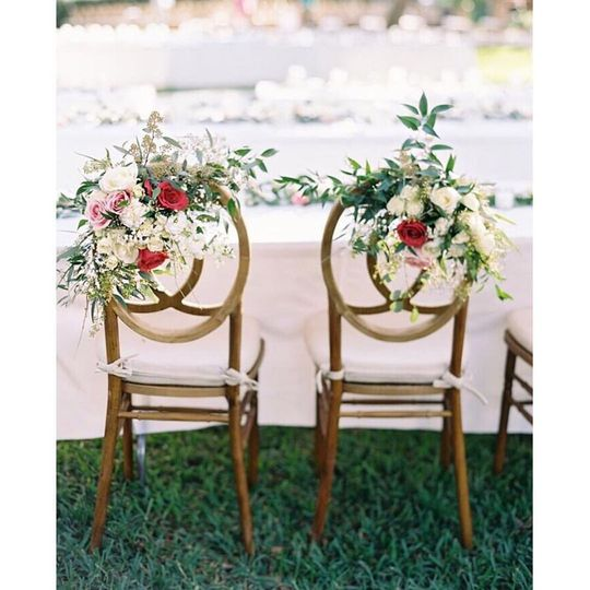 Floral chair embellishments