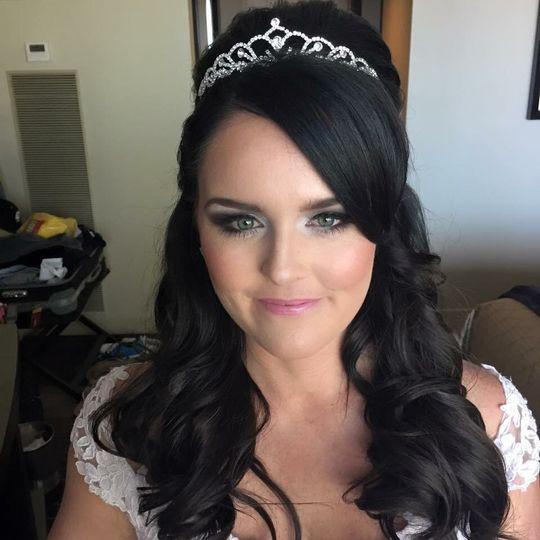 Bridal hair and tiara