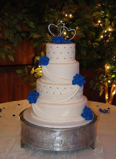 Bluehydrangeaweddingcake