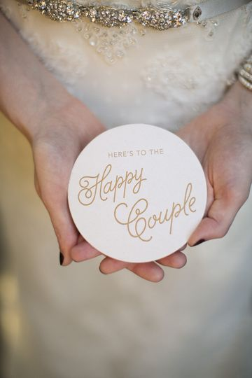 Coasters make great wedding favors. These can be customized to match your invites or decor.  Photo...