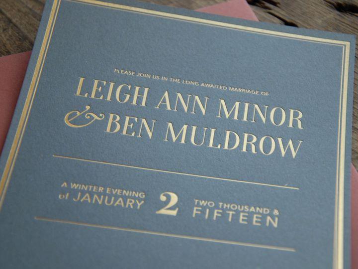 Tmx 1447191136432 Benleighironleafpress Mount Vernon wedding invitation