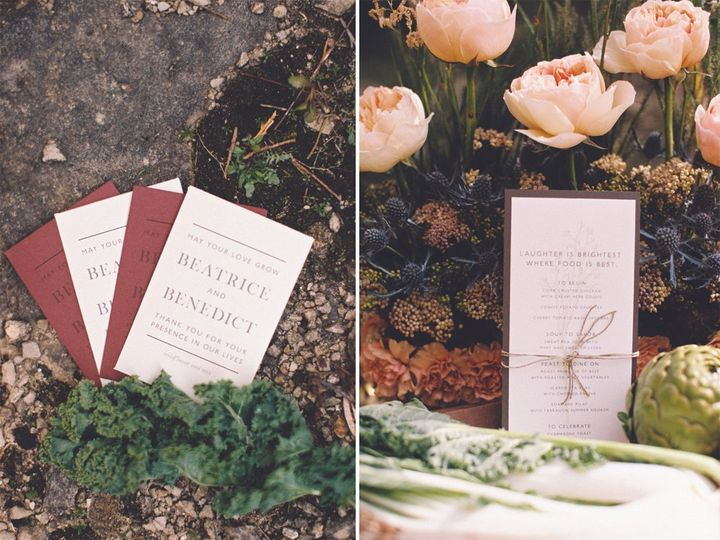 Tmx 1447191204964 Spring Garden Menu And Favors Iron Leaf Press Mount Vernon wedding invitation