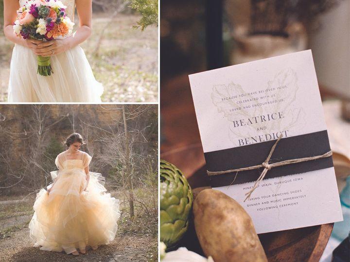 Tmx 1447191710361 Spring Garden Invite Iron Leaf Press Mount Vernon wedding invitation