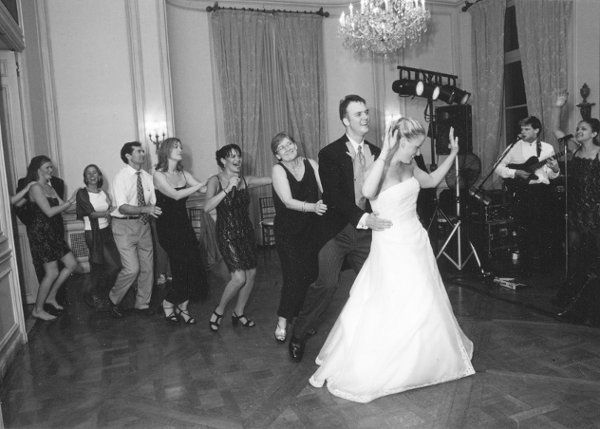 Some brides want to line dance....