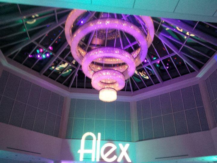 sheraton chandelier glowing