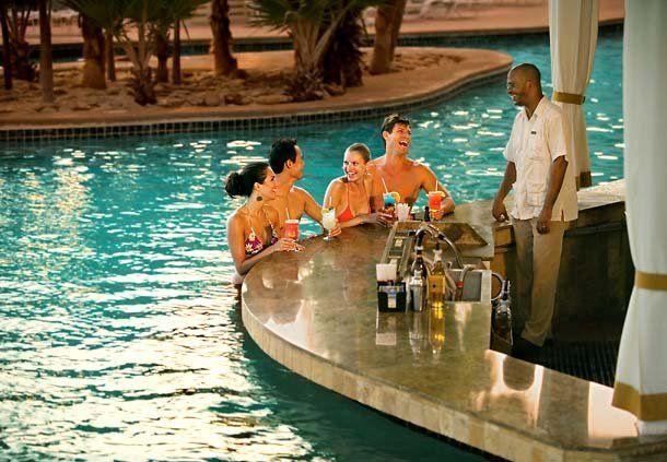 Bar at pool