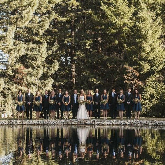 Bridal Party and Welcome Pond