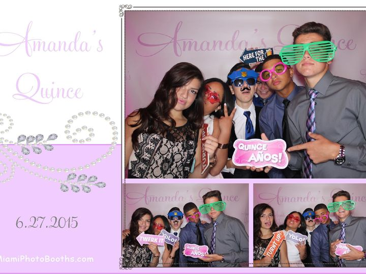 Tmx 1447094529224 Miami Photo Booth Rental Amandas Quince Power Part Fort Lauderdale wedding rental