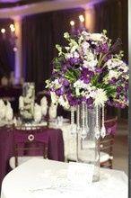 White violet centerpiece
