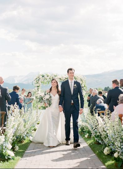 Magical outdoor ceremony