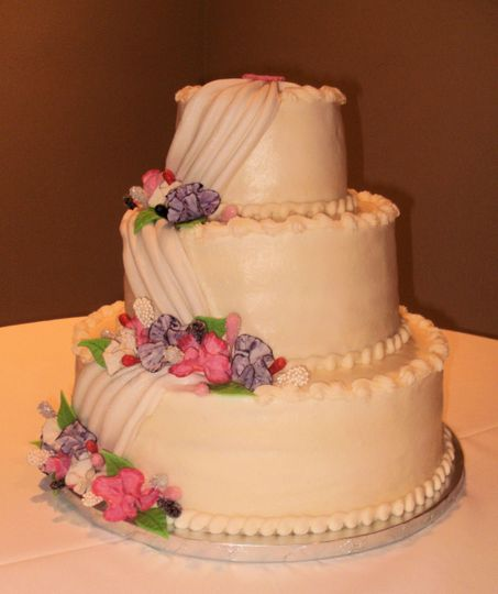 Fondant stacked cake
