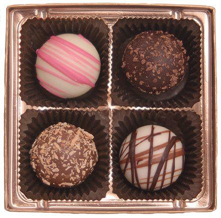 piece chocolate truffle favor assortmen