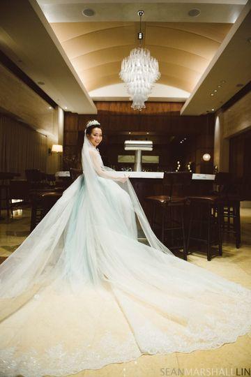 Bride with elegant dress