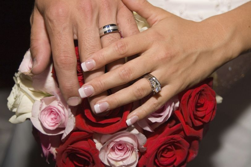 rings with flowers