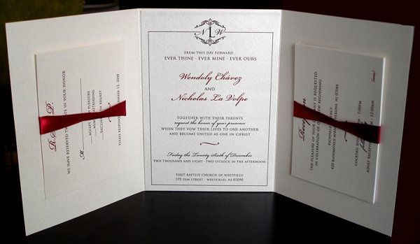 Tmx 1225468255062 Invite Inside 3 Saddle Brook wedding invitation