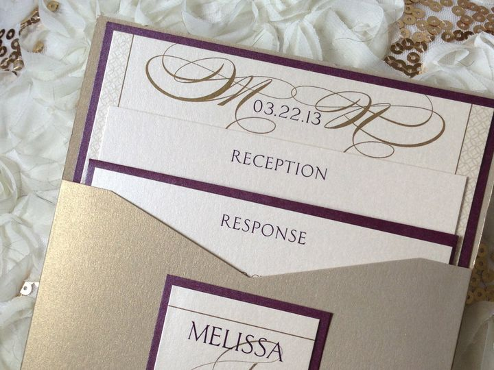 Tmx 1382538003650 Img8305 Saddle Brook wedding invitation
