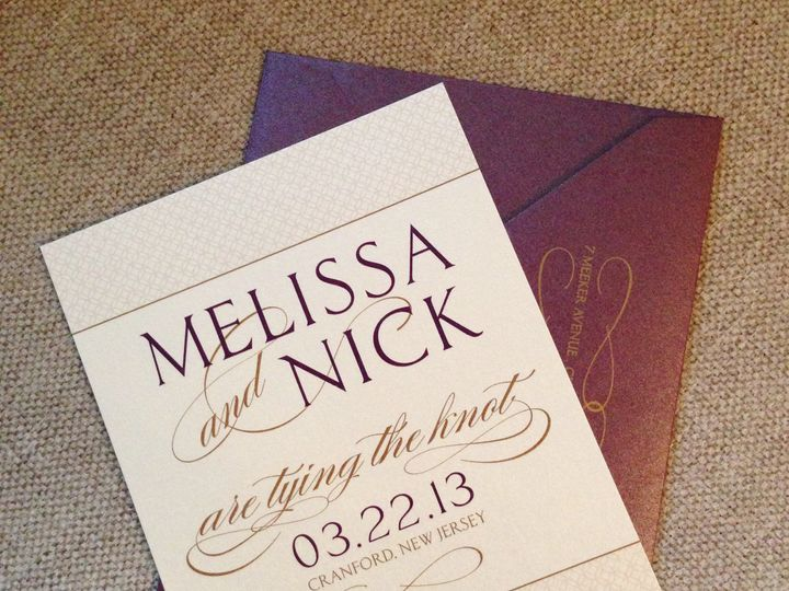 Tmx 1382538048400 Melissanicksavethedatehires Saddle Brook wedding invitation