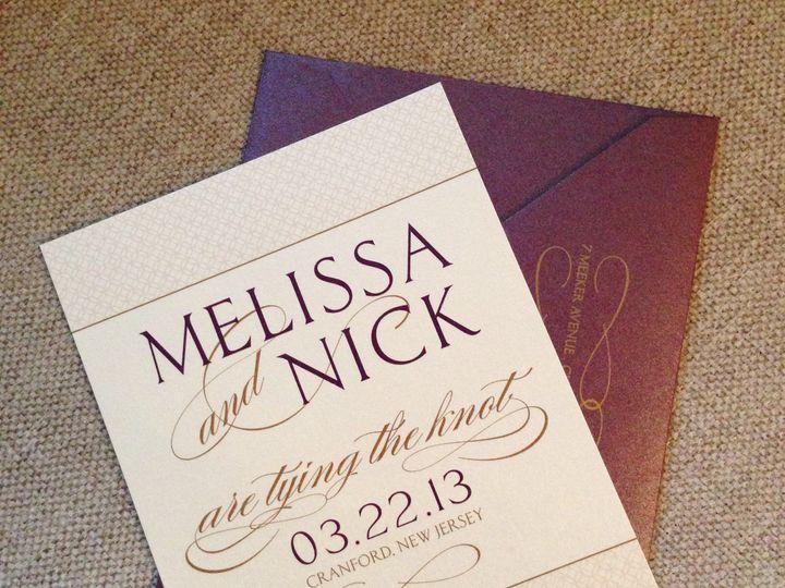 Tmx 1382538048400 Melissanicksavethedatehires Saddle Brook, NJ wedding invitation