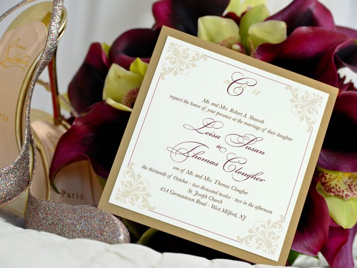 Tmx 1382538104171 I0005 Saddle Brook wedding invitation