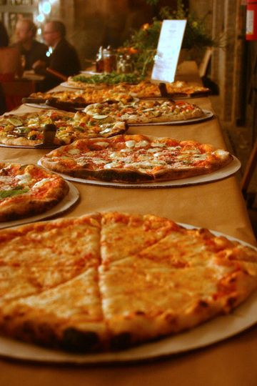 Pizza Buffet @ Basilica Hudson from Victoria's Wood Fired Pizza