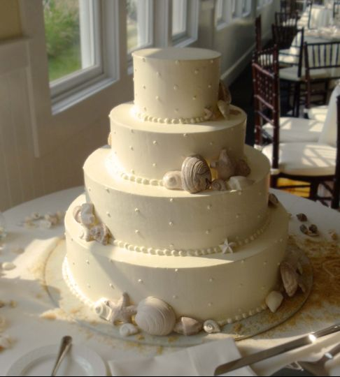 A popular choice for a wedding on the Chesapeake!  Chocolate sea shells make a lovely addition to...