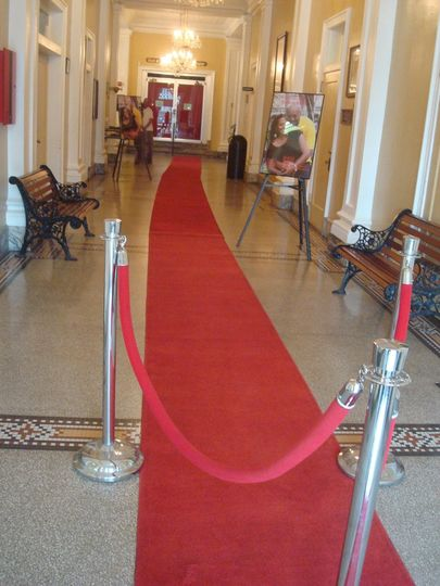 Grand entrance to the Theater for the Wedding Ceremony!
