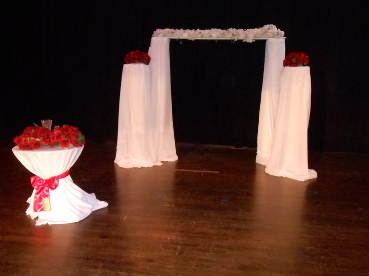 Stage decorated for Ceremony in the Theater