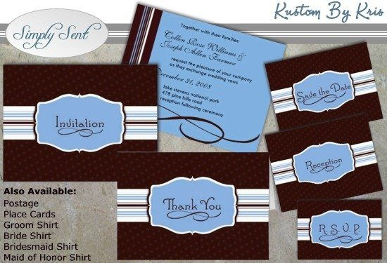 This invitation has it all! Understated design, masculine colors, and femme fatale make this wedding...