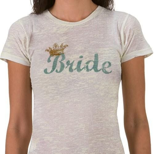 This t-shirt makes a great gift for the engaged couple when paired with the Royalty Groom shirt from...