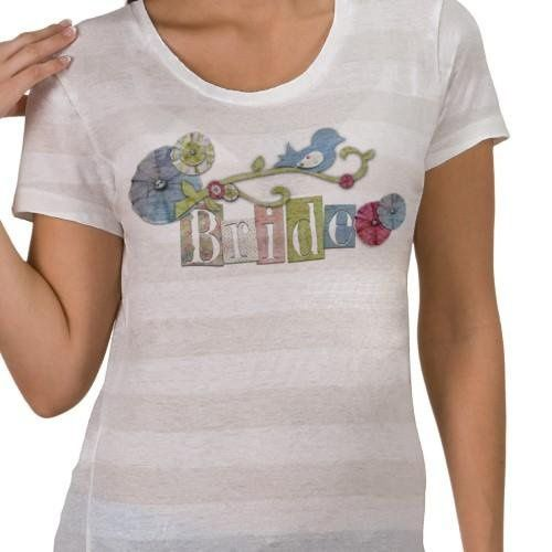 This scrapbook style shirt from Kustom By Kris is just for the Bride! Wear your title with pride -...